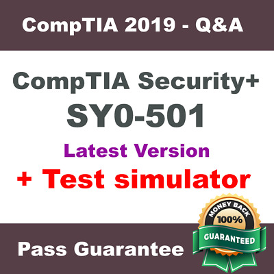 CompTIA Security+ Exam Dump SY0-501 Practice Q&A Test PDF + VCE Simulator (2018)