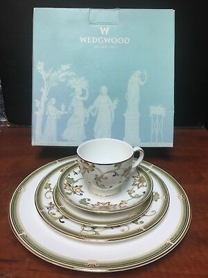 Wedgwood China, Oberon 5Piece Place Setting, New in box w/original tags attached