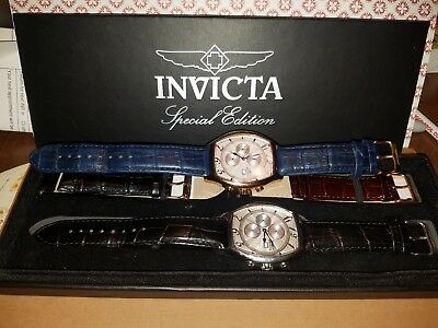 Lot Of 2 Invicta Men's Chronograph lupah Watches Special Edition
