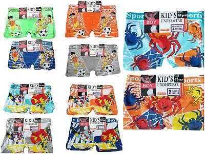 6 PAIRS BOYS STRETCH BOXER SHORTS / TRUNKS UNDERWEAR Size 3-5 / 6-8 / 9-11 Years