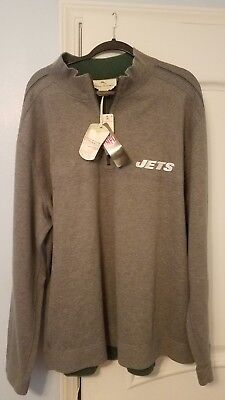 TOMMY BAHAMA NFL Mens Jets Quarter Zip Reversible Sweater Brand New ... 2ff0c8d9b