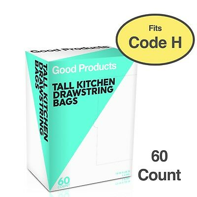 60 Pack | simplehuman Code H Comp.Trash Bags fits Simple Human | Buy Good Produc