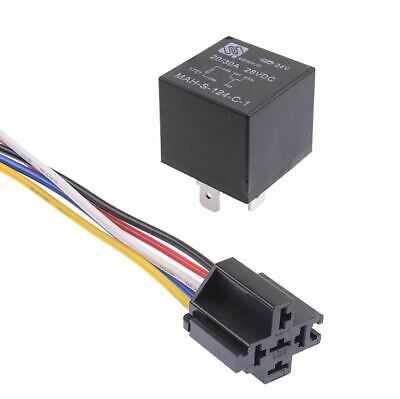 24V Automotive Changeover Relay 40A 5-Pin SPDT with Socket Auto
