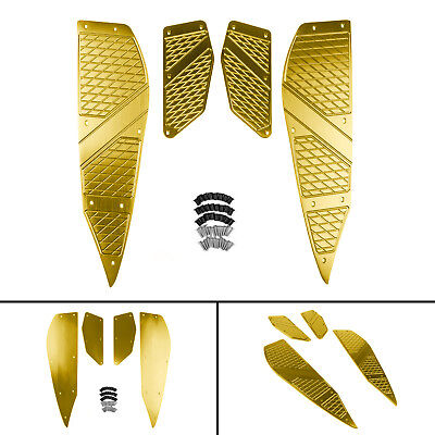 For Yamaha XMAX 250 300 400 2017-2018 Footboard Step Footrest Foot Plate Gold BS