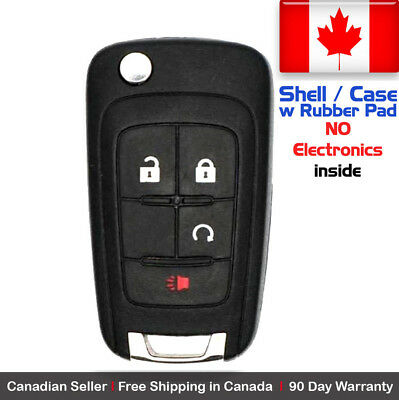 1x New Replacement Remote Key Fob Case For Chevy GMC - Shell Case Only