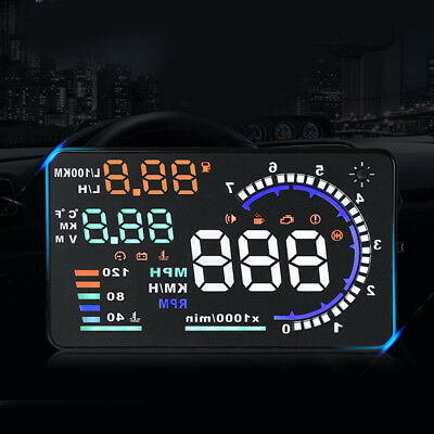 1Pc Head Up Display Windshield Project Car HUD Auto RPM Speedmeter for Vehicles