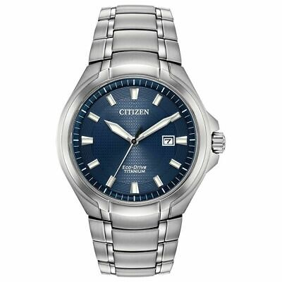 New Citizen Paradigm Eco Drive Blue Dial 43mm Men's Titanium Watch BM7431-51L