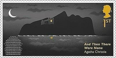 Agatha Christie 'And Then There Were None' illustrated on 2016 stamp - U/M