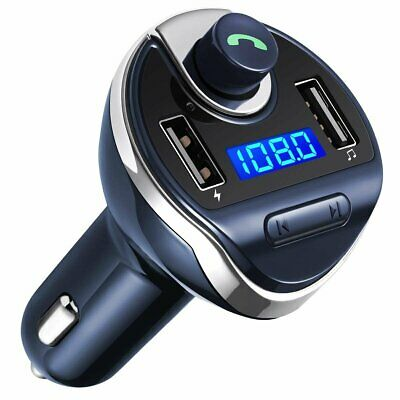 Bluetooth FM Transmitter Wireless In-Car Radio Adapter Car Kit Universal  Chargr