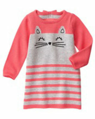 NWT Gymboree Kitty in Pink Kitty Sweater Dress SZ 2T,3T,4T, and 5t Toddler Girl
