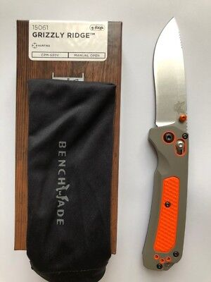 NEW Benchmade 15061 Grizzly Ridge Folding Blade Hunting Knife CPM-S30V Axis Lock