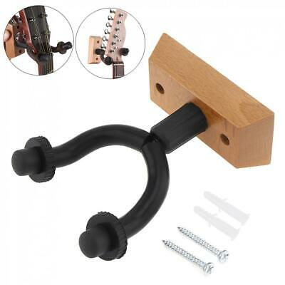 Wood Hanger Hook Stand Holder Wall Mount Display Acoustic Electric Bass Guitar