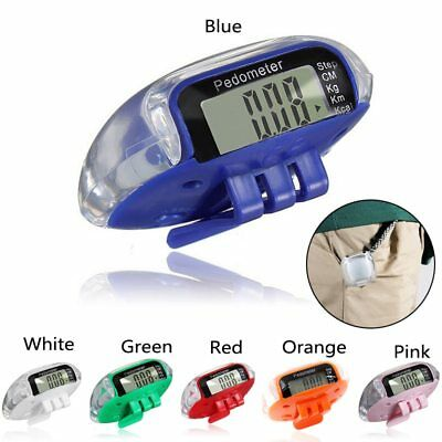 6 Colors Pedometer Activing Mini LCD Walking Run Sport Step Calorie Distance New