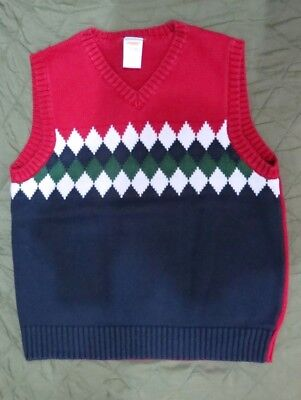Gymboree Kids Boy's Sleeveless Cable Sweater Vest Sz M ( 7 - 8 )