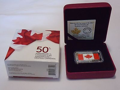 2015 Canada $50 The Canadian Flag, 50th Anniversary 1.5oz Pure Silver Coin.9999