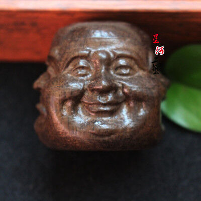 Collectibles Chinese Hand Carved Wooden Tibetan Buddhism Buddha Head Statues Hot
