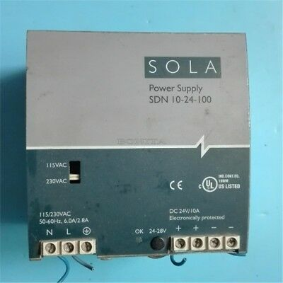 Dc Power Supply 1Pc Sola Sdn 10-24-100 Modules 24V 10A Tested Used ix