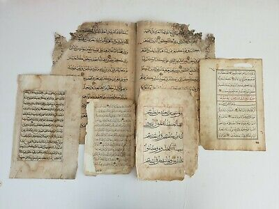5 Antique Manuscript Arabic Islamic Bukhara Malay Mamluk Ottoman Chinese Koran