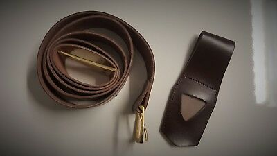 Knights Templar leather belt and frog