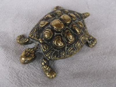 Fabulous Late 19Th Century Heavy Brass Tortoise Ornament / Paperweight