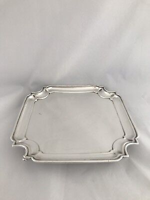 Solid Silver Drinks Tray Or Salver 1930 London Goldsmiths & Silversmiths
