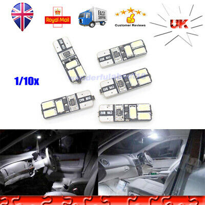 1X/10X W5W T10 501 6 LED 5730 Car Canbus 12V DRL License Number Plate light