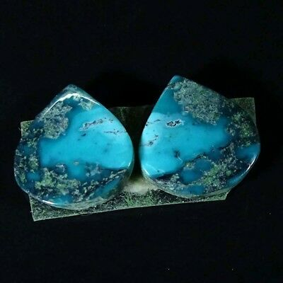 11.70Cts Natural Tibet Turquoise Pear Pair Cabochon Loose Gemstone