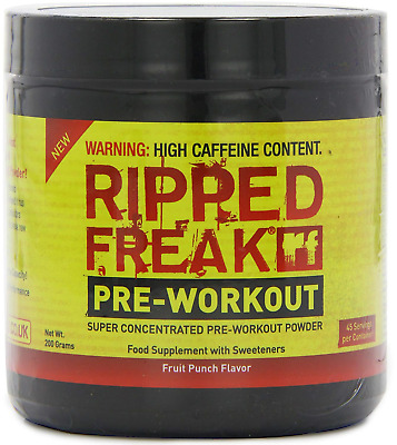 Pharma Freak Ripped 200 g Fruit Punch Energy and Endurance Pre-Workout Drink...
