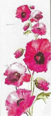 """NEW DESIGN """"WILD FRENCH CORN POPPIES"""" NEEDLEPOINT TAPESTRY canvas to stitch!"""
