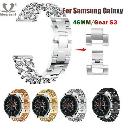 For Samsung Galaxy Watch 46mm GearS3 Replace Band Stainless Steel Bracelet Strap