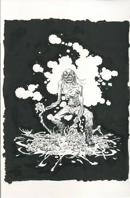 CANNIBAL CORPSE Zombie original art VINCE LOCKE T-shirt design