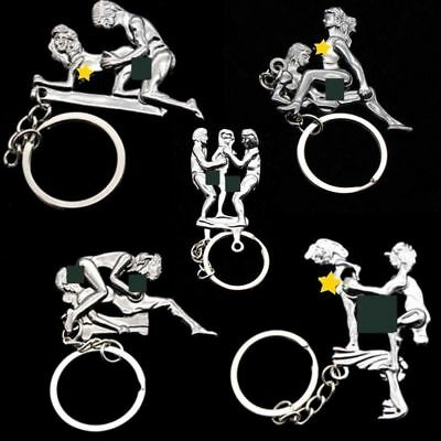 Vintage Remake Couple In Action Sex Keychain Assorted Joke Prank Toy  No Waiting