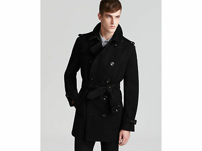 d269d8b6822 Nwt Burberry  1295 Britton Mens Wool Double Breasted Trench Coat Jacket  Large