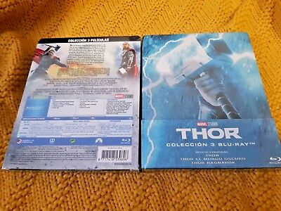 Thor Trilogie 1-3 Collection Blu-Ray Édition Limitée Exclusive Steelbook