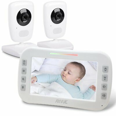 "Axvue E632 Video Baby Monitor, 5"" LCD Screen and 2 Camera"