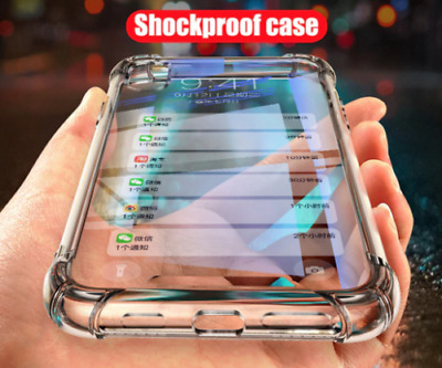 Shockproof Clear Hard Back Case Cover For Samsung S6 S7 S8 S9 + S10 Note 9 / 8