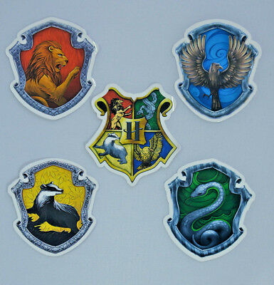 HARRY POTTER + HOGWARTS HOUSE ANIMALS Vinyl Decal Stickers Laptop Phone 6x6.5cm