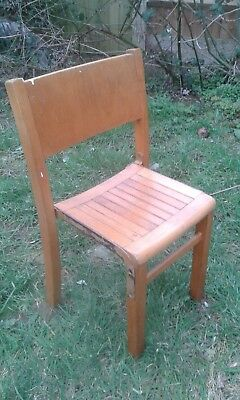 Vintage English 1950's Child's Small Wooden School Chair (Very Sturdy)