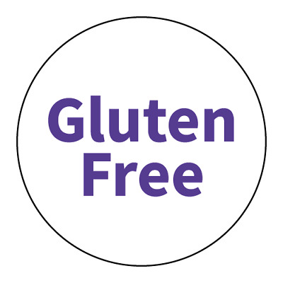 """Gluten Free"" Warning Stickers - Food Allergy Labels - Various Colours and Sizes"