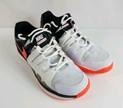 c67d95bbe36e Nike Vapor 9.5 Tour Womens Tennis Shoes Size 8 White Black Orange 631475-102