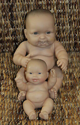 2 x BERENGUER dolls - hard bodied 18cms & 33cms tall