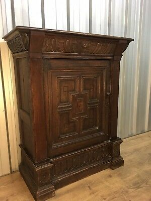 Antique cupboard / Cabinet Unusual Piece Carving Delivery Possible