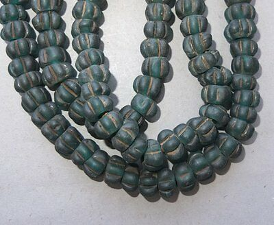 (i9213) Old Glass Hand Made Beads Nepal 8 pc (bead 1,2 cm )