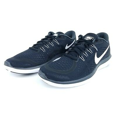 1f24a9476fb6 Nike Flex 2017 RN Mens Running Shoes Sneakers Black White 898457 001 Size