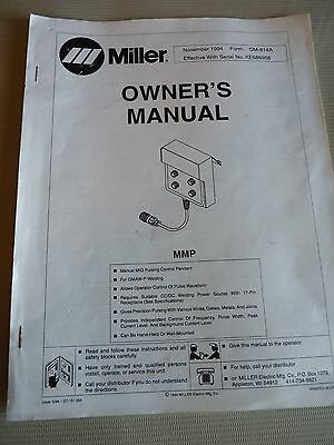 1994 Miller Electric Manual MMP MIG Pulsing Control Pendant for KE686958 OM-814A