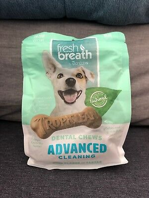 TropiClean Fresh Breath Advanced Regular Dental Chews for Dogs, 12 oz.