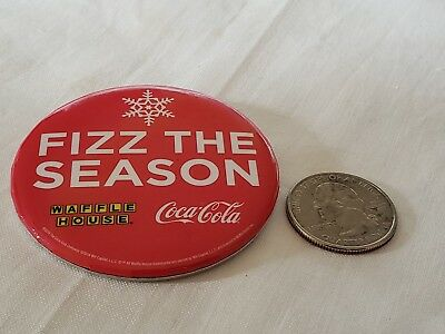 Coca Cola Waffle House Large Button Brand New Free Shipping