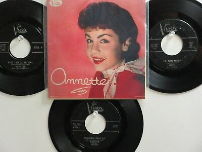 4 ' ANNETTE ' HIT 45's+1P(Copy)[How Will I Know My Love] 50's&60's!