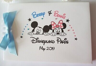Personalised Mickey & Minnie Mouse - Autograph Book * Brother & Sister Album