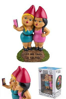 NEW Selfie Sisters Garden Gnomes Selfie Sisters Garden Gnome Durable Cast P GIFT
